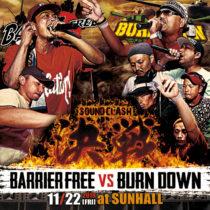 [ライブCD2枚組] BARRIER FREE vs BURN DOWN 1/1発売